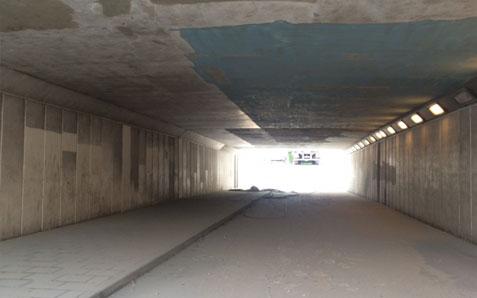 Beton Stralen | Voet-en fietstunnel Eindhoven